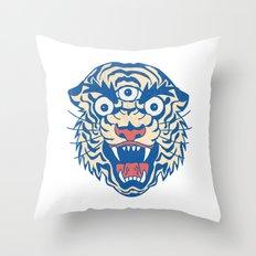 Third Eye Tiger Flash Throw Pillow