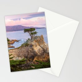 Lone Cypress Spring Sunset Stationery Cards