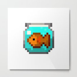 Fishbowl Metal Print