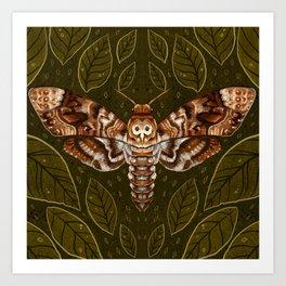 Deaths-Head Moth Art Print