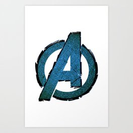 UNREAL PARTY 2012 AVENGERS LOGO FLYERS Art Print