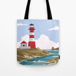 Lighthouse Ahoy! Tote Bag