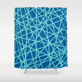 Lazer Dance Blue Shower Curtain