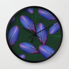 Tillandsia in emerald green Wall Clock