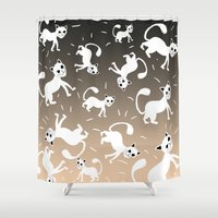 kittens Shower Curtains featuring kittens by Seefirefly
