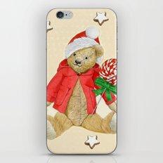 Yellow_Hearts_Xmas_Bear–1 iPhone & iPod Skin