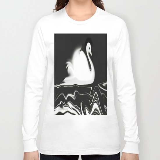 Swan Painting Long Sleeve T-shirt