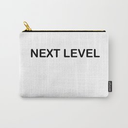 NEXT LEVEL Funny Minimalist Text Design by Peta Jane Designs Carry-All Pouch