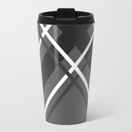 Jumbo Scale Men's Plaid Pattern Travel Mug