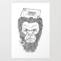 bigfoot Art Prints featuring Bigfoot  by Observer