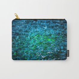 Water Color - Green Carry-All Pouch