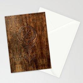 Vegvisir Old Norse Rune Viking mythology Stationery Cards