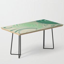 Spiraling Green Coffee Table