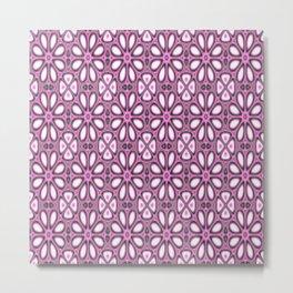 pink florals Metal Print