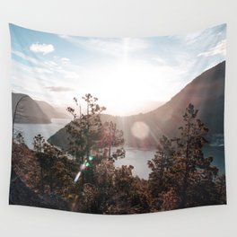 View of the Lago Lacar Wall Tapestry