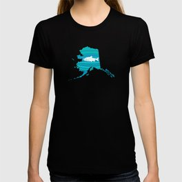 Alaska Wave Salmon Fishing T-shirt