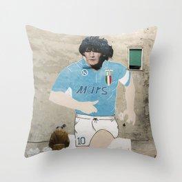 diego in Napoli street art in Naples Maradona Throw Pillow