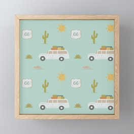 Road Trippin' in Mint Framed Mini Art Print