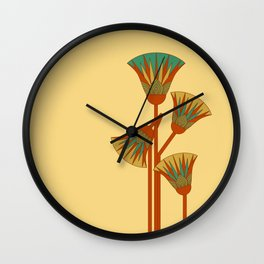 Ancient Egyptian lotus - Colorful Wall Clock