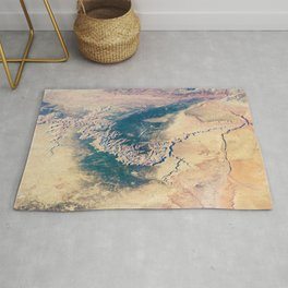 Grand Canyon Satellite Photograph from Earth's Orbit Rug