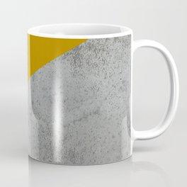 MUSTARD NUDE GRAY GEOMETRIC COLOR BLOCK Coffee Mug