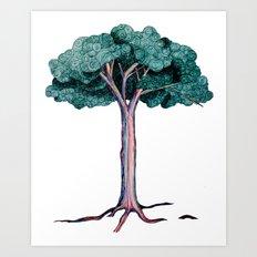 Spiral Tree Art Print