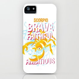 Scorpio Zodiac Horoscope Scorpion Spirit Animal iPhone Case