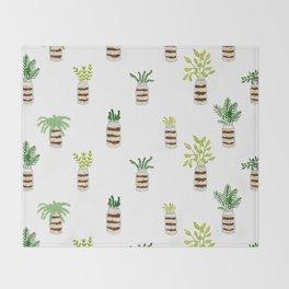 Houseplants Throw Blanket