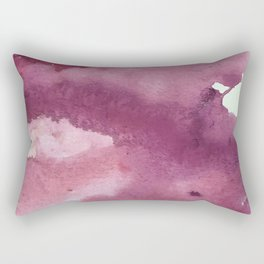 Blushing [2]: a minimal abstract watercolor and ink piece in shades of purple and red Rectangular Pillow