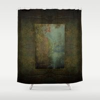 norway Shower Curtains featuring Fumee Lake Norway Michigan by Ginkelmier