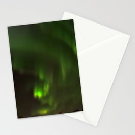 Northern lights in the North of Sweden Stationery Cards
