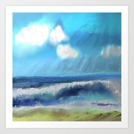 Ocean With Awesome Energy Art Print