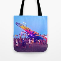 coachella Tote Bags featuring coachella butterfly by katelyndee