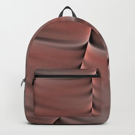 Peach Abstract Backpack