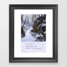 The Wind is Chill Framed Art Print