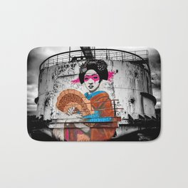 Geisha Graffiti Bath Mat