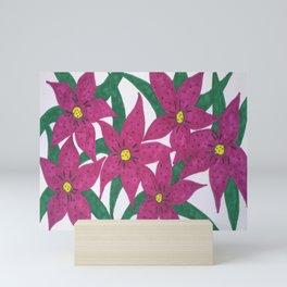Ultra Violet Lily Bouquet Mini Art Print