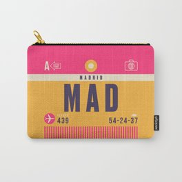 Retro Airline Luggage Tag - MAD Madrid Barajas Carry-All Pouch