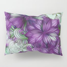 Violets and Greens Pillow Sham