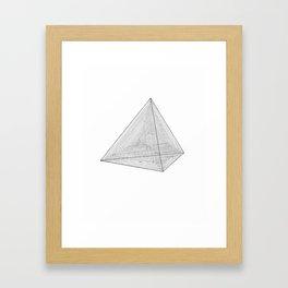 DMT TETRAHEDRON Framed Art Print