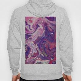 Fluid Nature - Purple Lava Abstract Acrylic Painting Hoody