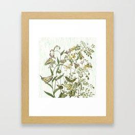 Cultivating my mind garden Framed Art Print