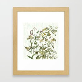 Cultivating my mind garden Framed Art Print
