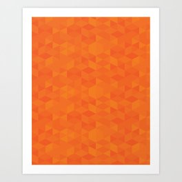 Orange Triangles Art Print