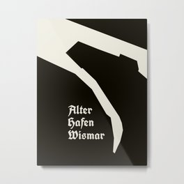 Wismar Alter Hafen Antiqua Dark Metal Print