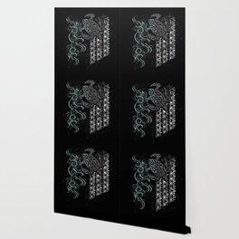 Slate Polynesian Tribal Turtle Grunge Wallpaper