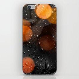 Raindrops and bokeh art iPhone Skin