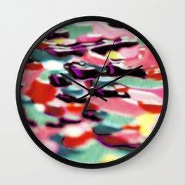 Flowery meadow 2 Wall Clock