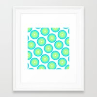 geo Framed Art Prints featuring Geo by Anchobee