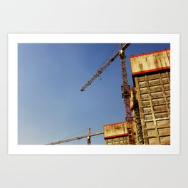 Construction Art Print